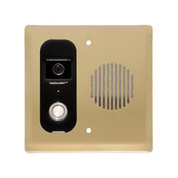 Logenex Teleport Flush Mount IP Video Door Station, Satin Brass