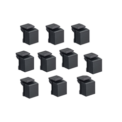 Leviton Quickport Blank Inserts, Black, 10 Pack