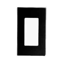 Leviton Screwless Decora Wallplate 1 Gang Black