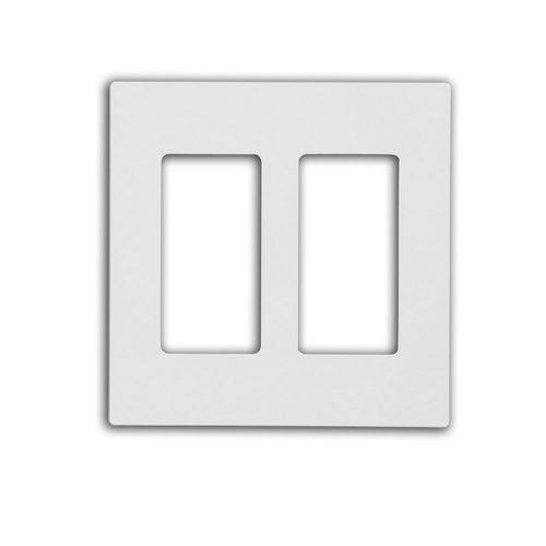 80309 Sw Leviton Screwless Decora Wallplate 2 Gang White