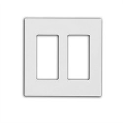 Leviton Screwless Decora Wallplate 2 Gang White
