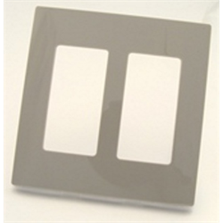 Leviton Screwless Decora Plate 2 Gang Gray