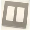 Leviton Screwless Decora Plate 2 Gang Gray (80309-SGY)