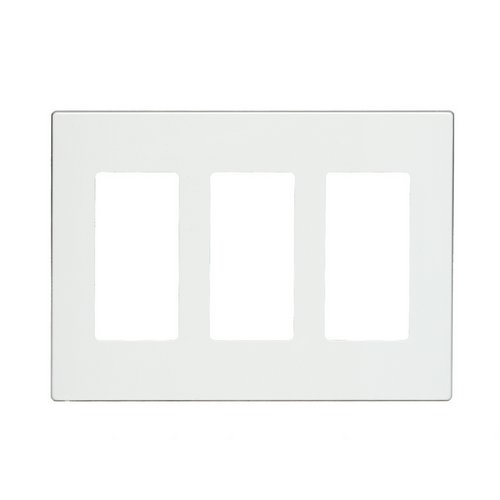 80311 Sw Leviton Screwless Decora Wallplate 3 Gang White