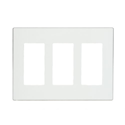 Leviton Screwless Decora Wallplate 3 Gang White