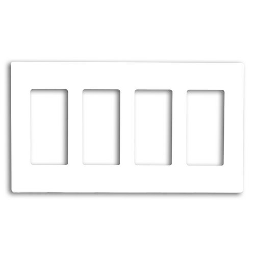 80312 Sw Leviton Screwless Decora Wallplate 4 Gang White