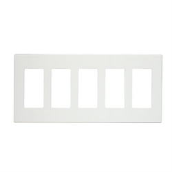 Leviton Screwless Decora Wallplate 5 Gang White