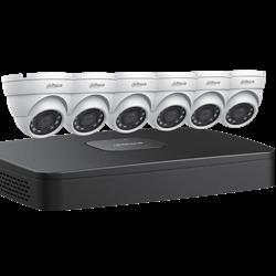 Dahua IP Security Camera System, 8 Channel 4K NVR, 6 x 4MP Eyeball Cameras