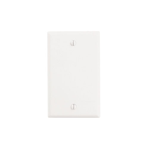 88014 Leviton Blank Wall Plate Thermoset 1 Gang White