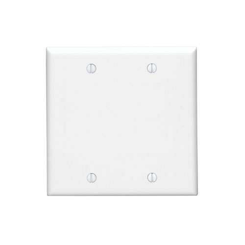 88025 Leviton Blank Wall Plate Thermoset 2 Gang White