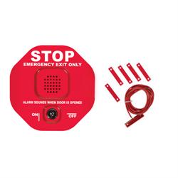 STI Exit Stopper Door Alarm for Double Door, Red