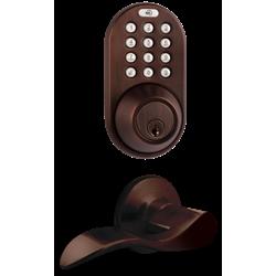 MiLocks 3-in-1 Keyless Lever RF Keyfob-Keypad-Key, Oil Rubbed Bronze