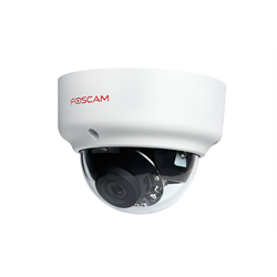 Foscam Wired IP Network Dome Camera, Night Vision, 2 Megapixel, 1080p, WDR, PoE