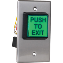 """Camden 2"""" Sq Illuminated Push Exit Switch With Fixed 30 Second Timer"""