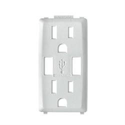 Leviton Renu Colour Change Kit For Renu 15A USB Charger/Receptacle/Outlet,  White