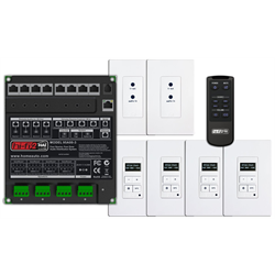 Leviton HAI HiFi2 Multi Room Audio System, 4 Source, 4 Zone Kit for Enclosures
