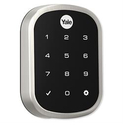 Yale Zwave Plus Slim Key Free Touchscreen Deadbolt, Satin Nickel