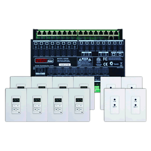 leviton 95a00 2 multi room audio kit 8 source 8 zone. Black Bedroom Furniture Sets. Home Design Ideas