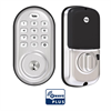 Yale Assure Lock Zwave Plus Push Button Deadbolt Satin Nickel