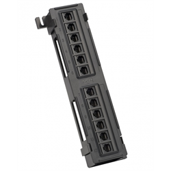 Platinum Tools Patch Panel, 12 Port, Cat5e, 110 Punchdown