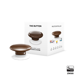 Fibaro The Button Zwave Battery Powered Device and Scene Control Button, Brown