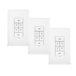 Insteon 6 Button Keypad Dimmer White 3 Pack Promo