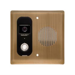Logenex Teleport Flush Mount IP Video Door Station, Bronze
