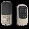 Yale Key Free Zwave Push Button Deadbolt, Satin Nickel