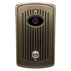Logenex Teledoorbell Elite Flush Mount Door Station With Video - Antique Brass