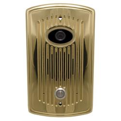 Logenex Teledoorbell Elite Flush Mount Door Station With Video - Polished Brass
