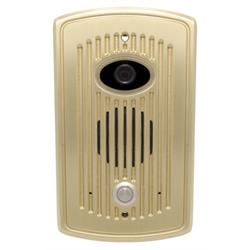 Logenex Teledoorbell Elite Flush Mount Door Station With Video - Satin Brass