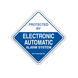 Azco Generic Alarm Decal 4 x 4 Inches– 10 Pack