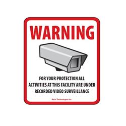 Azco Generic CCTV Decal - 3.5 x 4 Inch - 10 Pack