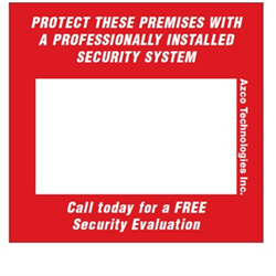 Azco Business Card Prospecting Decal – 10 Pack
