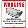 Azco Generic CCTV Sign - 10.5 x 10.5 Inches