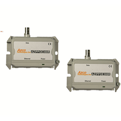 Azco IP POE over Coax Extender Set, 10/100Mbps, Up To 1000 FT