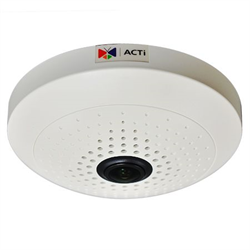 Acti Network Indoor Fisheye Dome, 3MP, WDR, 1.19mm Lens, MicroSD, PoE