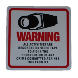 CCTV Warning Sign Small Decal