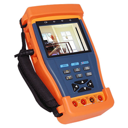 Pro Series Tester for CCTV Cameras with PTZ, Audio, Multimeter, Cable Tester