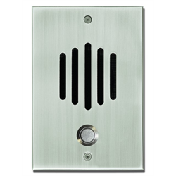 Channel Vision Door Station with Surface Mount Box Satin Nickel Finish for CAT5