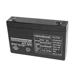 Rechargeable Sealed Lead Acid Battery 6V 7.5AH