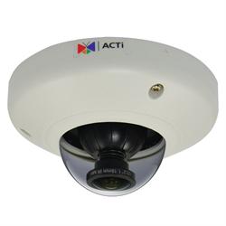 Acti Network Indoor Mini Fisheye Dome, 5MP, WDR,1.19mm, MicroSD, PoE