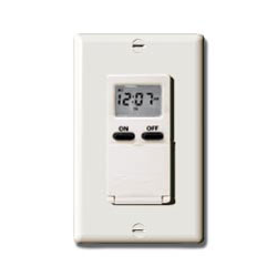 Intermatic Electronic 7 Day In Wall Timer Light Almond