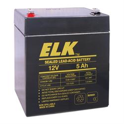Elk Rechargeable Sealed Lead Acid Battery 12V 5Ah for UPS,Alarm,Emergency Lights