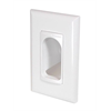 Channel Vision 1-Gang Decorator Cable Port with Screwless Trim Plate Included