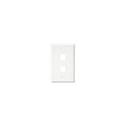 Channel Vision Wall Plate 2 Insert Single Gang (White)