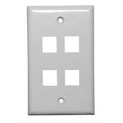 Channel Vision Wall Plate 4 Insert Single Gang (White)