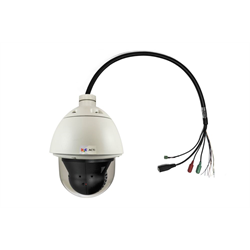 Acti Network Outdoor Speed Dome,1M,ExtWDR,30X Zoom,4.3-129m,MicroSD,HighPoE,24V