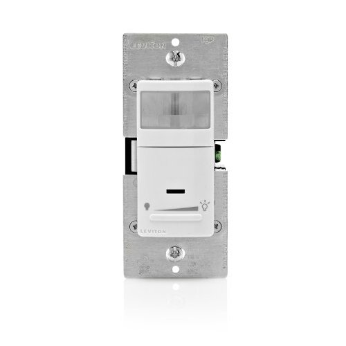 ipsd6 1lz leviton motion sensing wall dimmer occupancy detector auto on off 120v 600w 5a. Black Bedroom Furniture Sets. Home Design Ideas