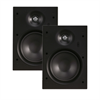 Channel Vision Rectangular In Wall Soprano Speakers Pair With 6.5 Inch Woofers